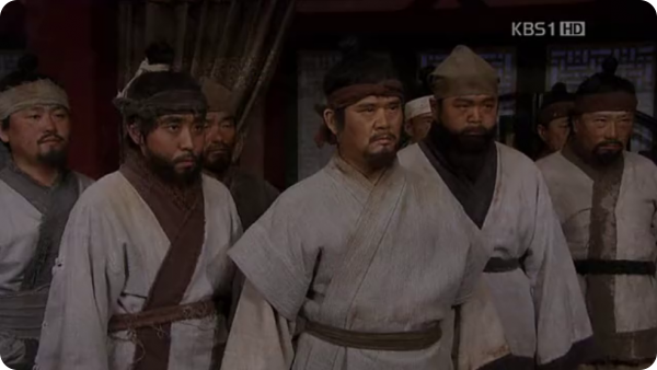 Song Pil and the rest of migrants confront the Goguryeo king