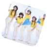 Crayon pop wearing yellow colored bar bar bar outfit and helmet