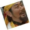The Baekje King Jinsa with a goofy face