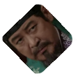 A closeup on Damdeok's uncle